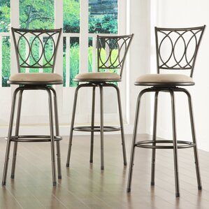 Frankfort Adjustable Height Swivel Bar Stool (Set of 3) & Adjustable Bar Stools Youu0027ll Love | Wayfair islam-shia.org