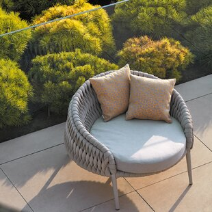Partlow Round Patio Chair with Cushions & Round Patio Chair | Wayfair