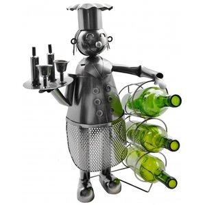 Chef Holding 3 Bottles Tabletop Wine Rack by Three Star Im/Ex Inc.