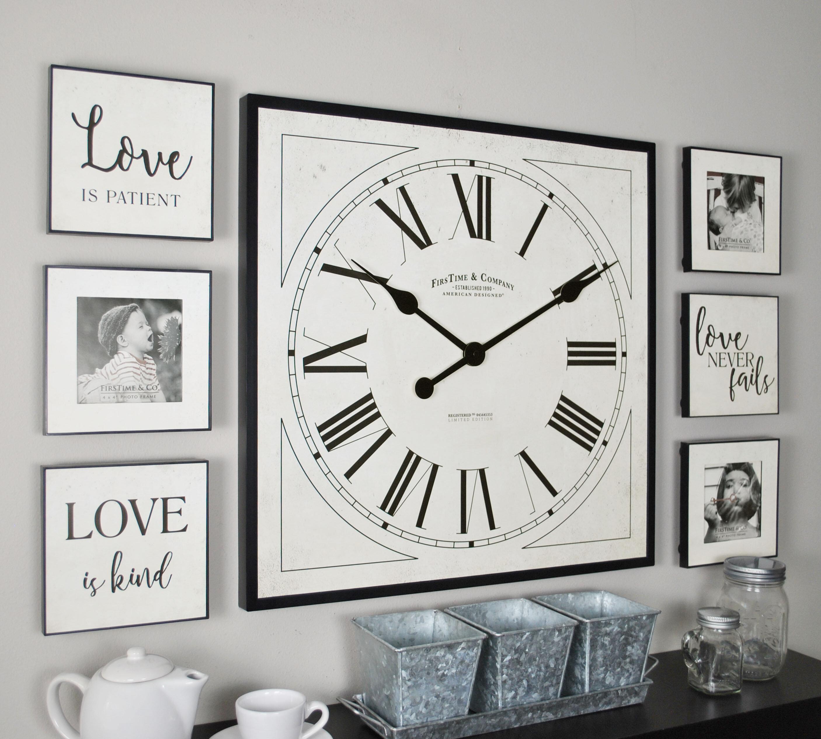 FirsTime 7 Piece Frame Gallery Wall Clock Set & Reviews | Wayfair