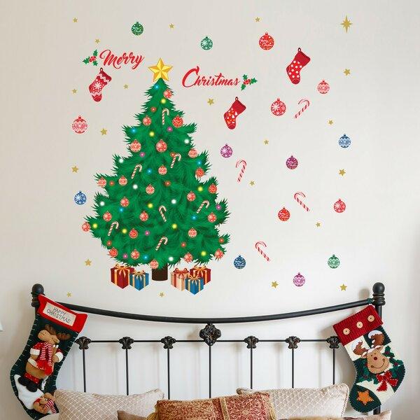 the holiday aisle merry christmas tree wall decal wayfair