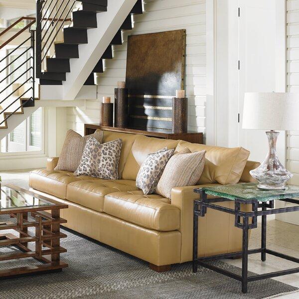 Tommy Bahama Home Island Fusion Leather Sofa Reviews