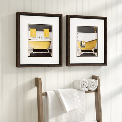 Citron Bath Framed Graphic Art Set Of 2