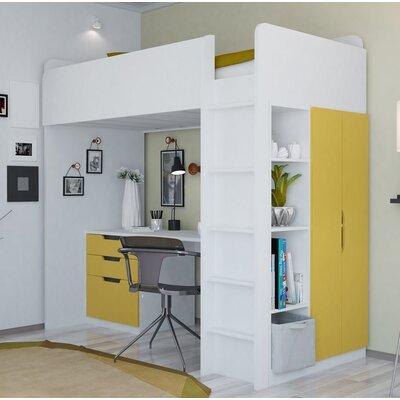 kinderbetten farbe gelb. Black Bedroom Furniture Sets. Home Design Ideas