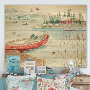 Lake Canoe Wall Art | Wayfair