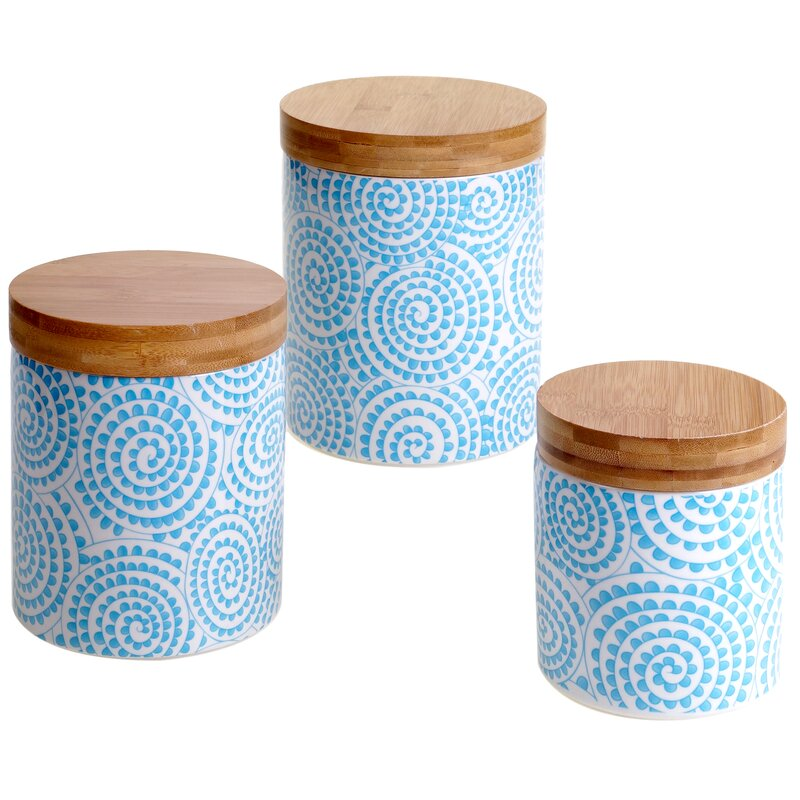 Wilshire 3 Piece Kitchen Canister Set Reviews Birch Lane