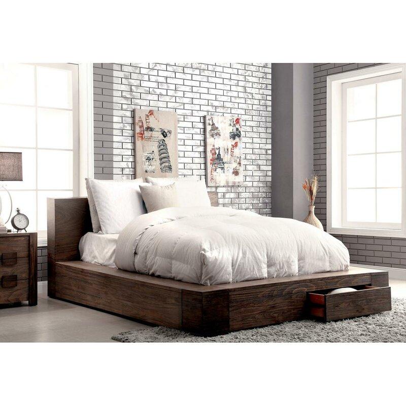 Arianna Solid Wood Storage Platform Bed Reviews Allmodern