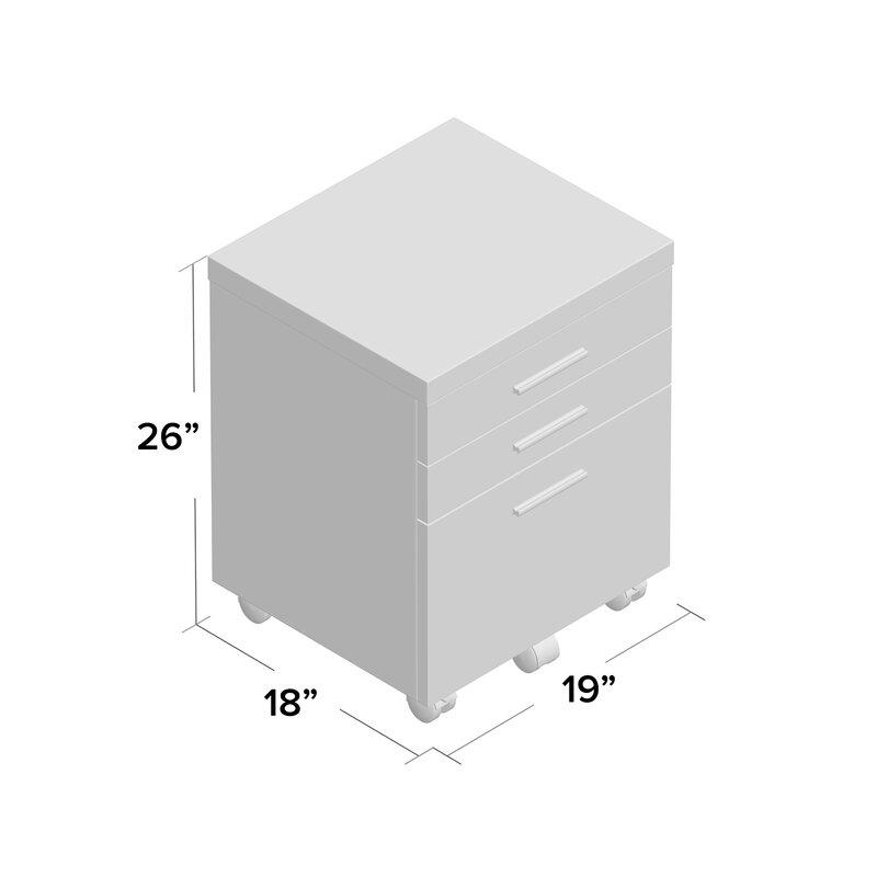 Barnaton 3 Drawer Mobile Lateral File Cabinet Amp Reviews