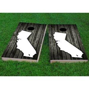 Wood Slat California Themed Cornhole Game (Set of 2)