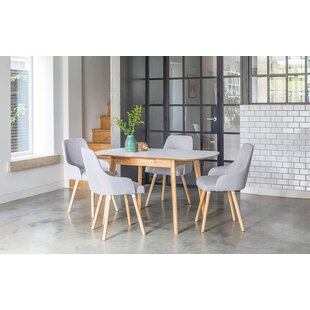 Faldo Extendable Dining Set With 4 Chairs