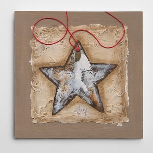 'String Star' Painting Print on Wrapped Canvas