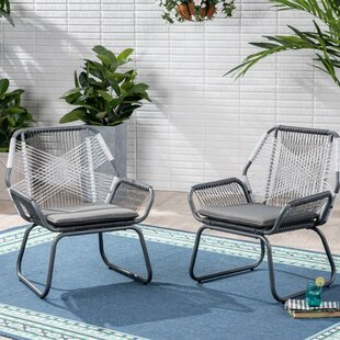Spivey Patio Chair With Cushion Set Of 2