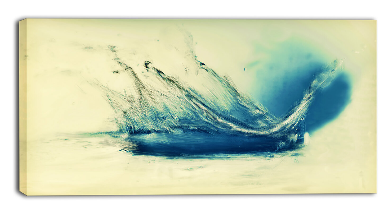 DesignArt \'Fresh Water Splash\' Wall Art on Wrapped Canvas in Blue ...