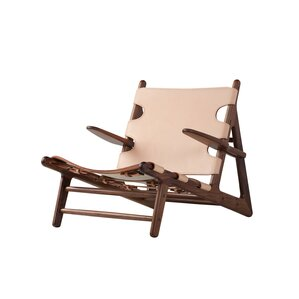 Oak Lounge Chair by Union Rustic