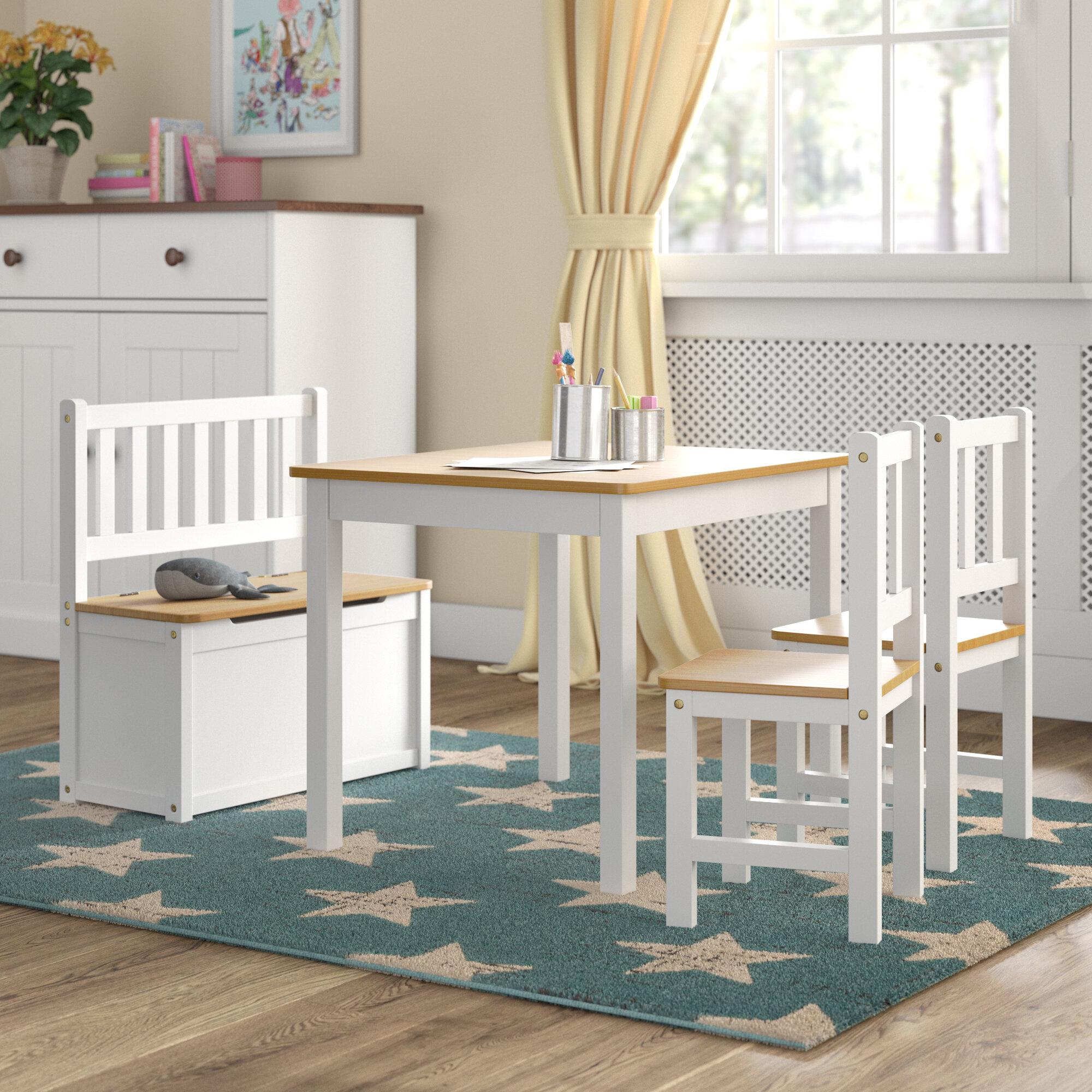 b04b9fb89b7 Harriet Bee Erick Children's 4 Piece Table and Chair Set & Reviews |  Wayfair.co.uk