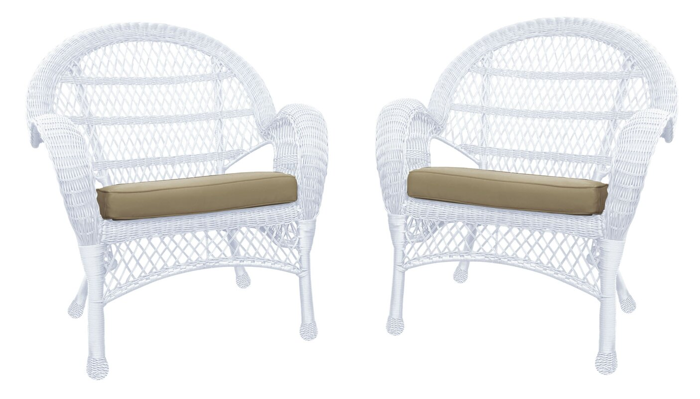 Jeco Inc. Wicker Chair With Cushions & Reviews