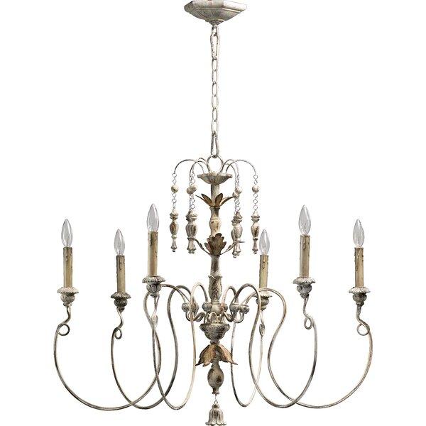 One Allium Way Paladino 6 Light Candle Style Chandelier