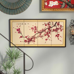 Plum Tree Chinese 4 Piece Painting Set