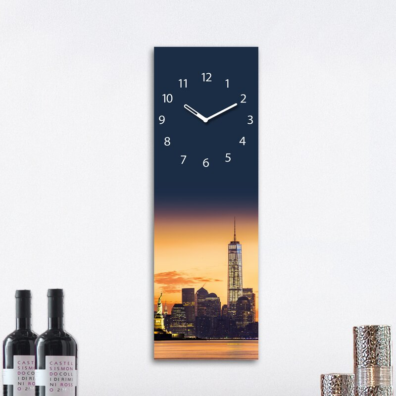 Eurographics analoge wanduhr time art manhattan sunrise - Eurographics wanduhr ...
