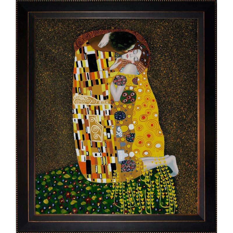 Tori Home The Kiss by Gustav Klimt Framed Painting & Reviews | Wayfair
