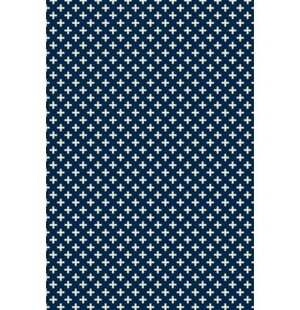 Reviews Reece Elegant Cross Design Blue/White Indoor/Outdoor Area Rug By George Oliver