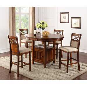 Huguetta 5 Piece Pub Set with Storage Base by Darby Home Co