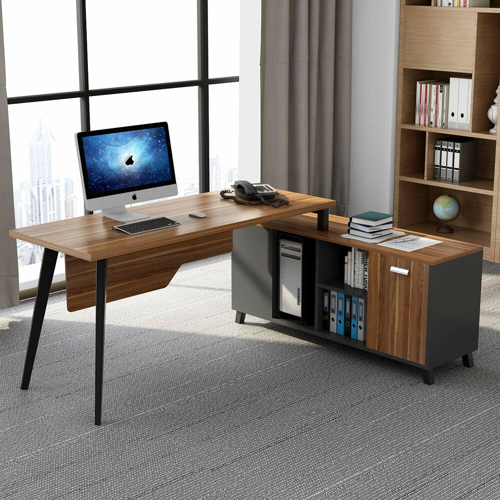 Cool Edgecomb L Shaped Executive Desk Home Interior And Landscaping Mentranervesignezvosmurscom
