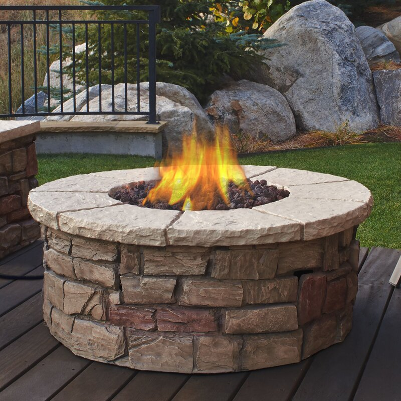 Real Flame Sedona Concrete Propane Fire Pit Table & Reviews | Wayfair