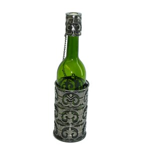 Fleur De Lis Patterned 1 Bottle Tabletop Wine Rack by Three Star Im/Ex Inc.