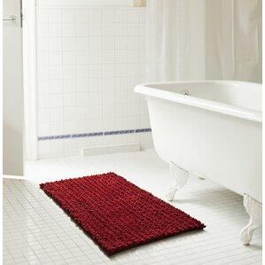 Red Bathroom Rugs Youll Love Wayfair - Chenille bathroom rugs for bathroom decorating ideas