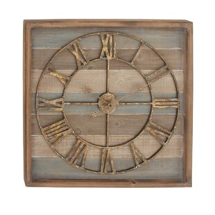 Wooden Spool Clock Wayfairca