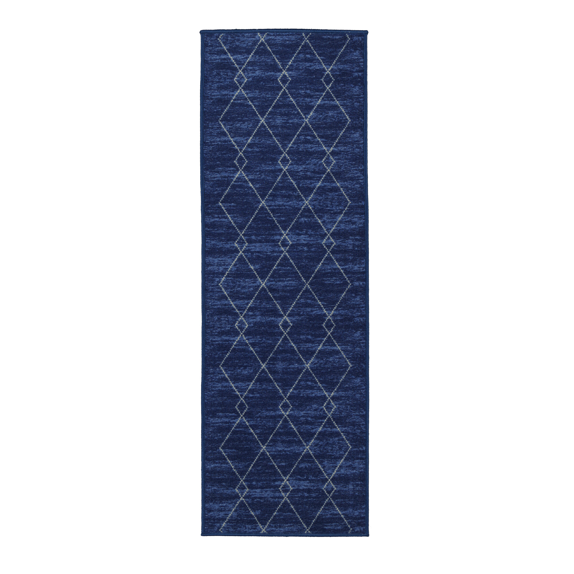 Beachcrest Home Vathylakas Diamond Trellis Blue Area Rug & Reviews ...