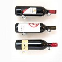 Vino Pins 3 Bottle Wall Mounted Wine Bottle Rack