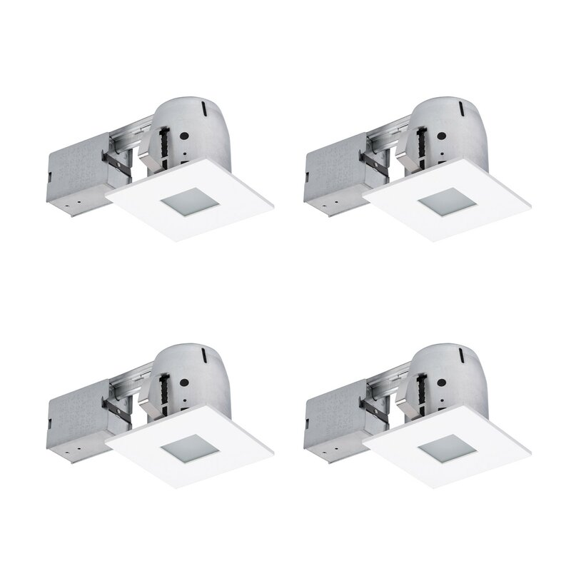 4 recessed lighting commercial ryanne bathroom square 4 globe electric company