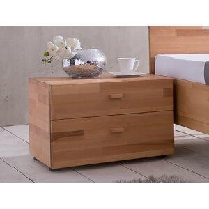 Nachttisch mit 2 Schubladen von Woodlive