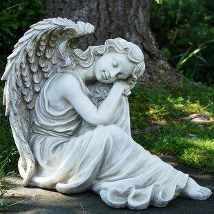Resting Angel Religious Outdoor Garden Statue