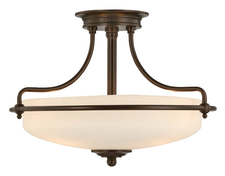 Charlton home rockwood 3 light semi flush ceiling light reviews rockwood 3 light semi flush ceiling light aloadofball Images