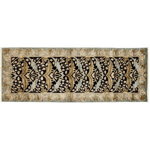 One-of-a-Kind Arts and Crafts Hand-Knotted Brown Area Rug
