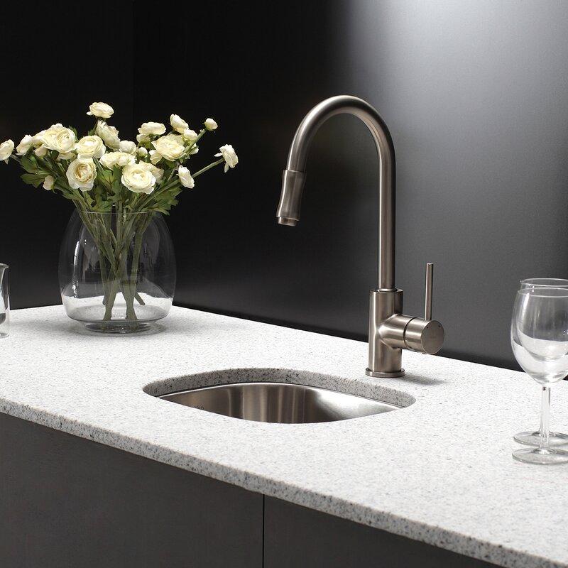 """Undermount Kitchen Sink kraus kitchen combos 18"""" x 15"""" undermount kitchen sink with"""
