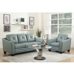 Chiang Top Grain Leather Configurable Living Room Set