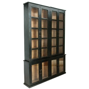 Alma 3 Piece Wood and Glass Curio Cabinet Set