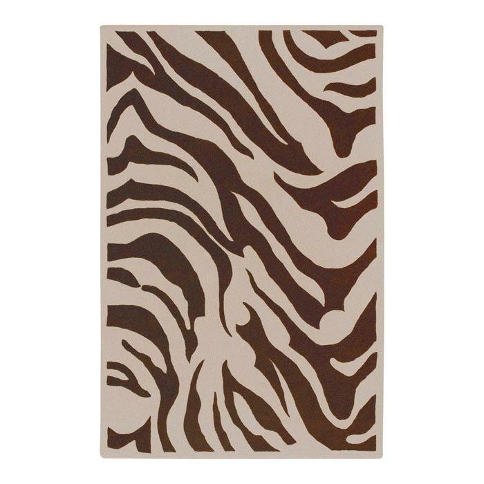 Bloomsbury Market Akiva Zebra Print Area Rug, Size: Rectangle 8 x 11