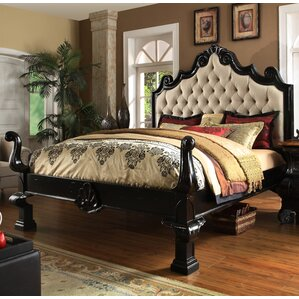 Liege King Upholstered Panel Bed by Eastern Legends