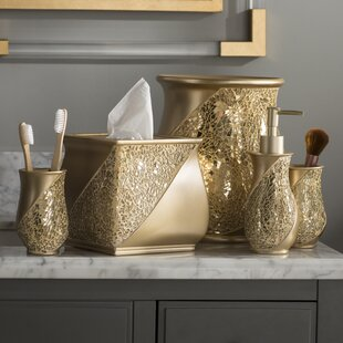 Rivet Champagne 6 Piece Bathroom Accessory Set