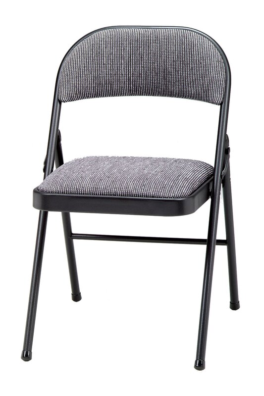 Meco Deluxe Fabric Padded Folding Chair Amp Reviews Wayfair