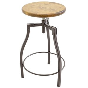 Cardiff Adjustable Height Swivel Bar Stool by Stone County Ironworks