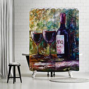 OLena Art Aged Wine Shower Curtain