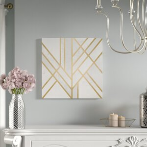 Art Deco Geometry II Graphic Art On Wrapped Canvas