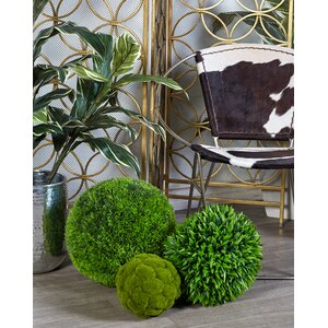 Faux Grass Boxwood Topiary