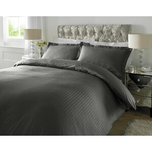 300tc satin stripe duvet set